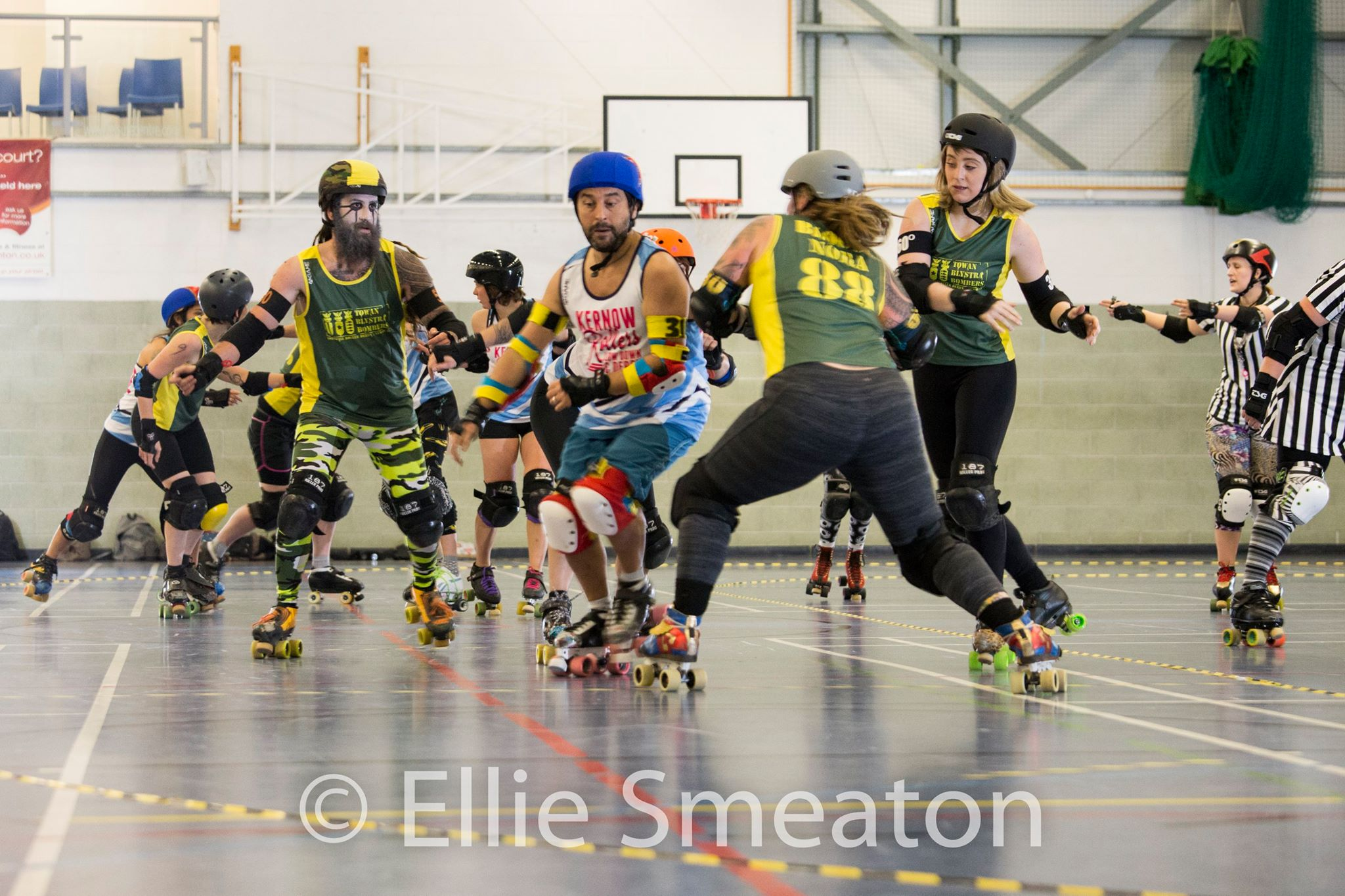 Bloody Nora goes for the kill on Block Rockin' Beast