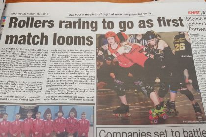 Cornwall Roller Derby All Stars coverage in Newquay Voice